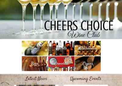 Cheers Wines & Spirits Website