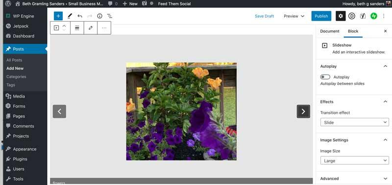 wordpress slideshow block