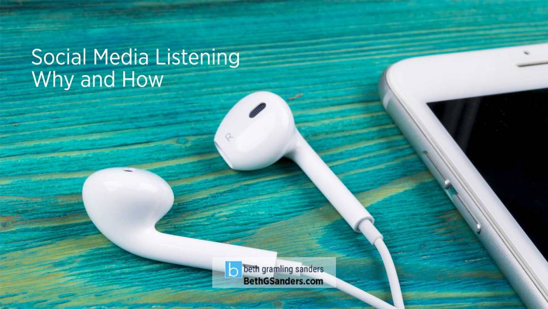 Social Media Listening: Why and How