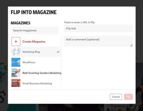 flip into Flipboard magazine