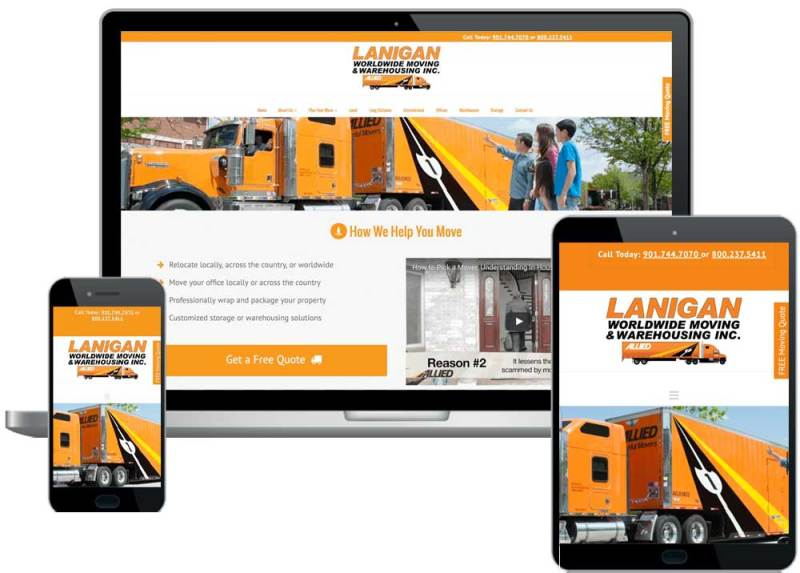 moving company website
