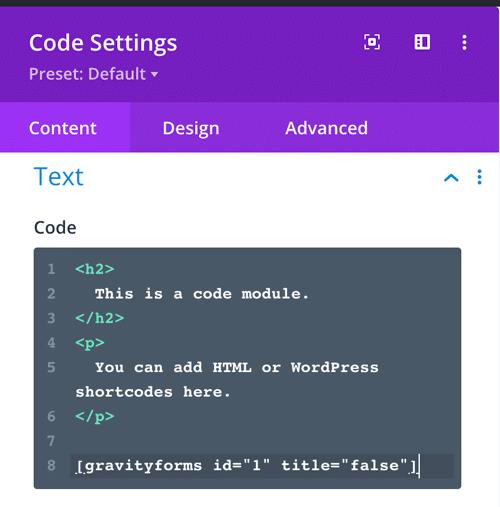 divi code module