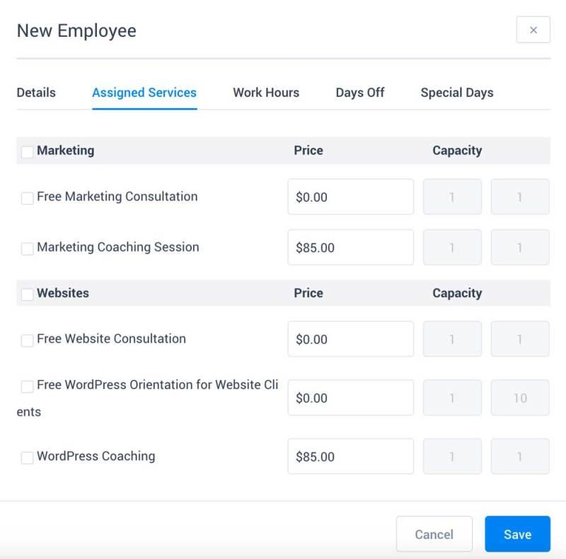 WordPress appointment calendar