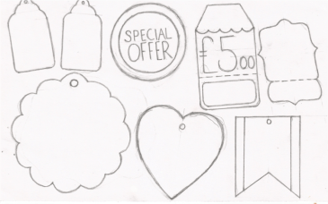 Price tag sketches