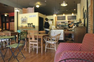 Oak Street Coffee interior main KC Oct 2009