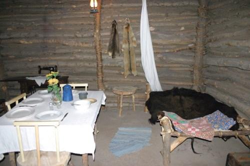 Salina Smoky Hill Museum log cabin interior Kansas Oct 2009
