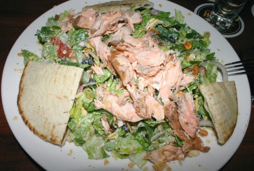 The Well tequila lime salad with salmon KC Oct 2009
