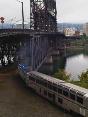 Beth Partin's photos, train under bridge