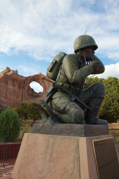 Window Rock with Code Talker statue, Arizona, July 2013