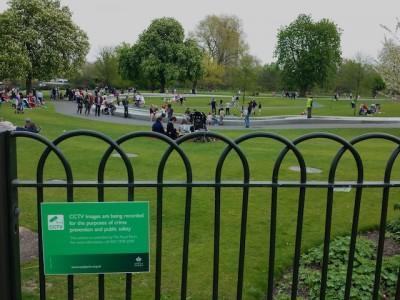 UK signs Hyde Park April 2014