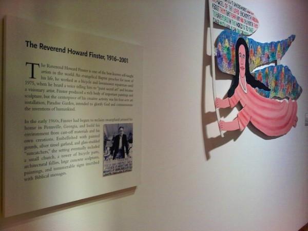 Reverend Howard Finster angel and description, High Museum, Atlanta, 2012 (1)
