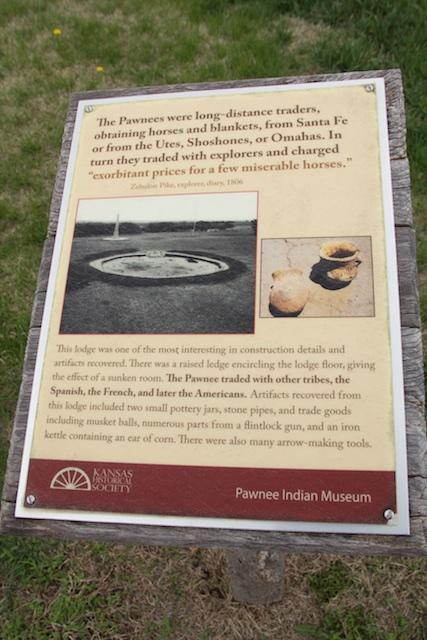 Pawnee Indian Village Museum, Pawnees as traders, Republic, Kansas, April 2015