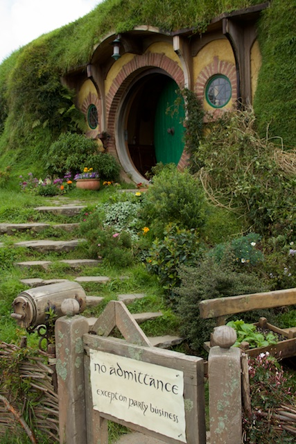 We weren't allowed to go in, though we were allowed in another hobbit hole. There wasn't much to see because all the interior shots were filmed in a studio.