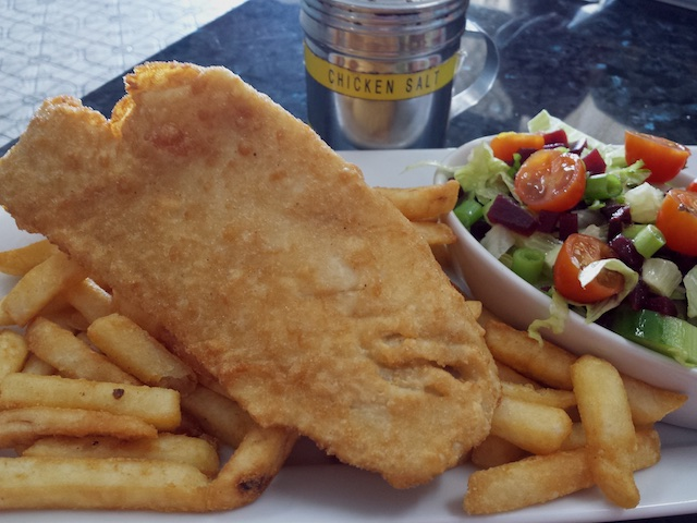 Mossman fish and chips Australia Sept 2015