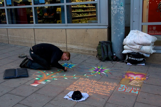 Nick at Brighton Pavement Art 4, April 2014
