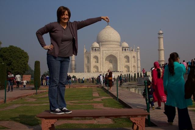 Taj Mahal goofy Beth Agra Dec 2015