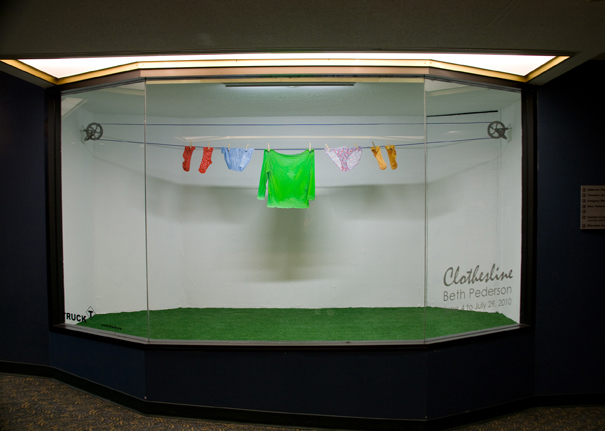 Clothesline (installation) by Beth Pederson