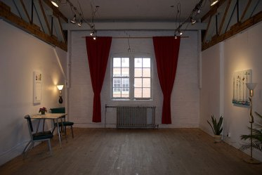 Install-shot 5 - red curtains