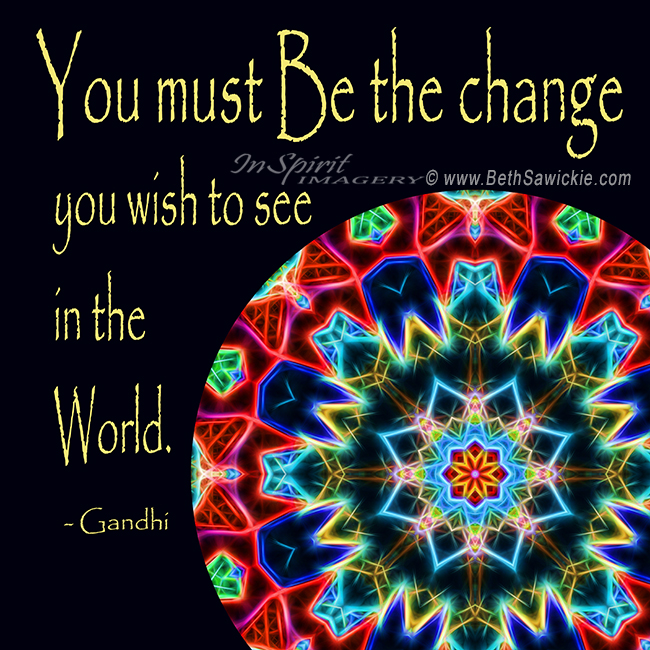 Be the Change Mandala - http://www.bethsawickie.com/be-the-change-meaning