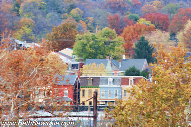 Columbia PA Fall Color by Beth Sawickie fall-stroll-columbia-bridge-susquehanna