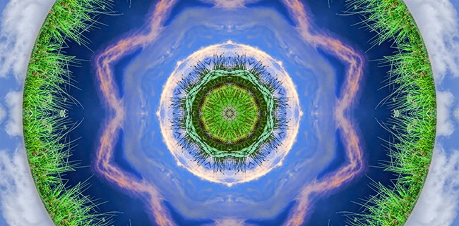 Earth and Sky Mandala by Beth Sawickie http://bethsawickie.com/earth-and-sky-mandala