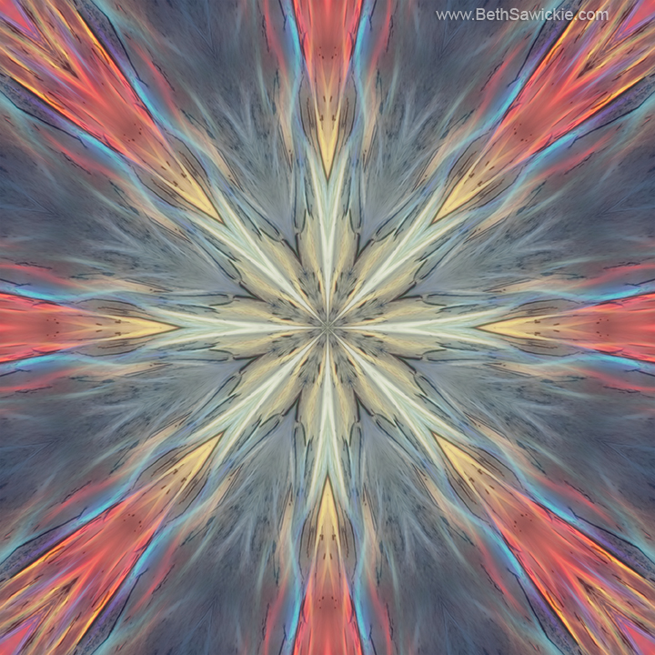 Energy Flow Mandala by Beth Sawickie