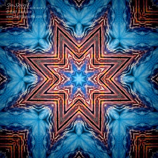 """Image by Beth Sawickie www.BethSawickie.com/last-snowflake-mandala """"Last Snowflake Mandala"""""""