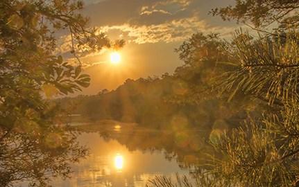 Mirror Lake Sunset 1 by Beth Sawickie http://www.BethSawickie.com/mirror-lake-sunset-1 #sunset #sunsetphoto #settingsun #newjersey