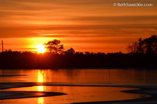 Orange Sunset by Beth Sawickie
