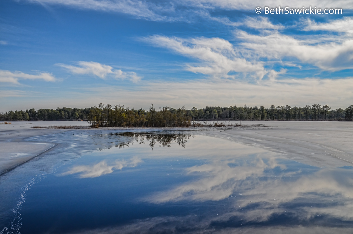 Oswego Lake in NJ by Beth Sawickie