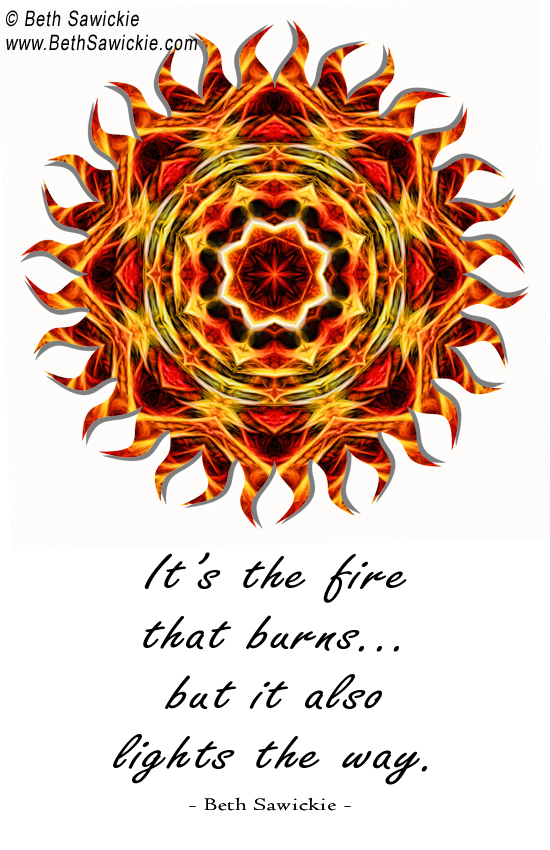 Sun Fire Mandala with Quote http://www.bethsawickie.com/sun-fire-mandala