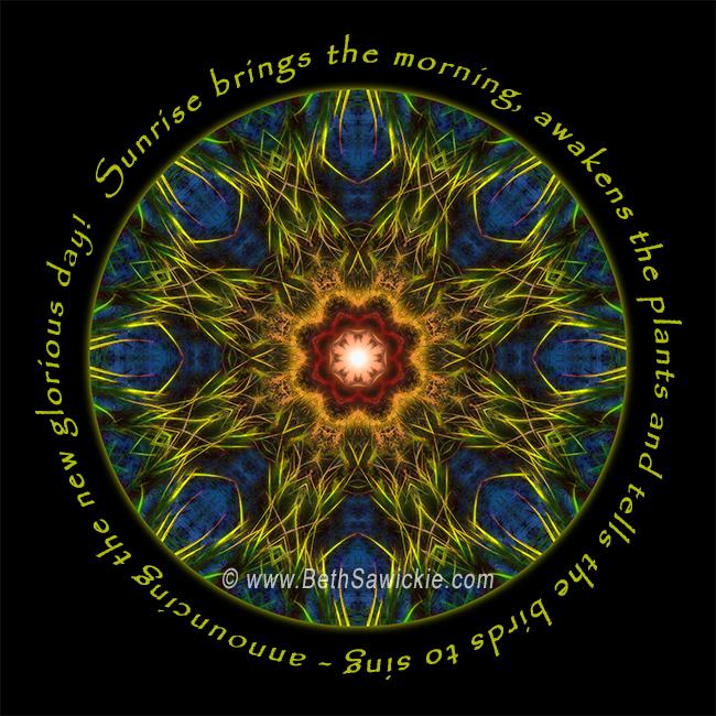 Sunrise Brings Mandala by Beth Sawickie http://www.bethsawickie.com/sunrise-brings-mandala