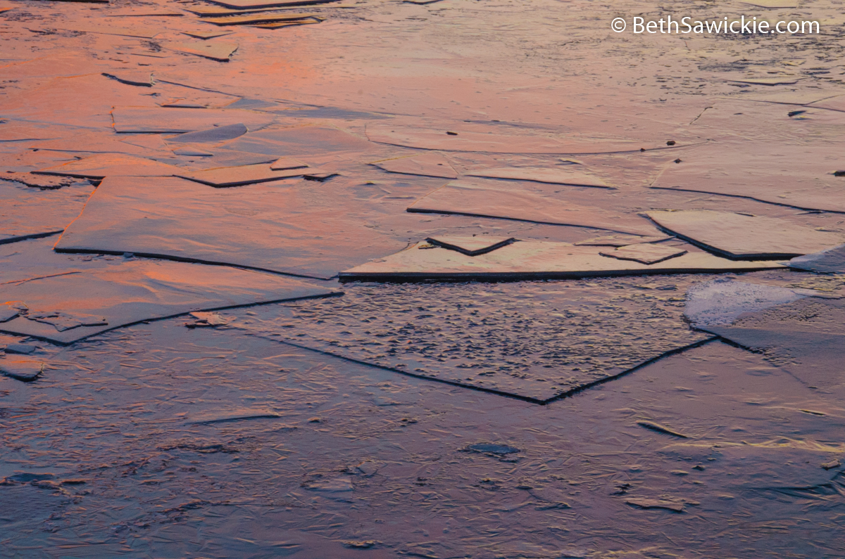 Sunset Reflected on Ice by Beth Sawickie