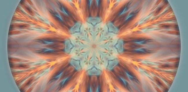 Sunset of Fire Mandala 1 by Beth Sawickie