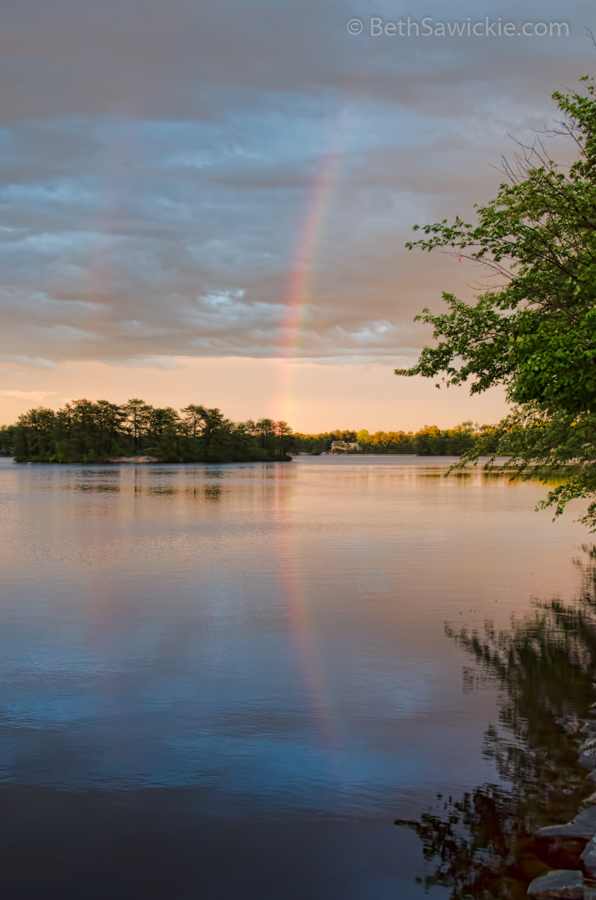 Rainbow After the Storm - Nature Photo by Beth Sawickie