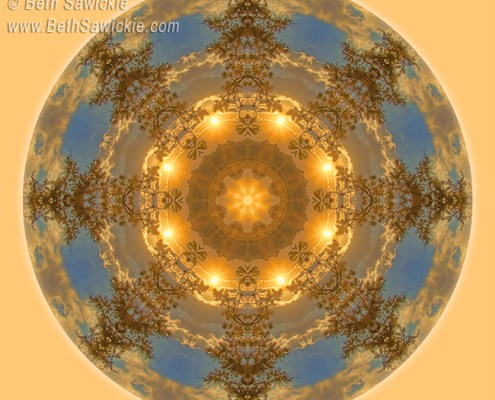 Warm Glow of the Sun Mandala by Beth Sawickie http://bethsawickie.com/warm-glow-of-the-sun-mandala #mandala #kaleidoscope #meditation