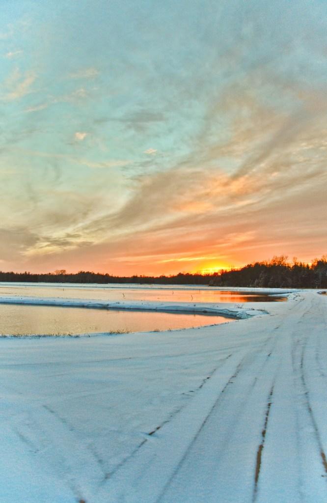"""Image by Beth Sawickie www.BethSawickie.com/winter-sunset-whitesbog """"Winter Sunset at Whitesbog NJ"""""""