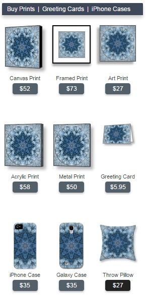 Winter Tree Mandala Prints Cards iPhone Pillow