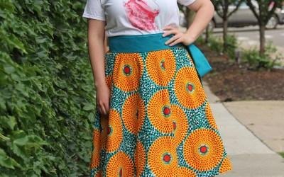 XLarge Full Circle Wrap Skirt – Ankara Yellow Circles