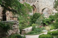 Formal Garden, Flower Bed, Old Ruin, Gothic Style ...