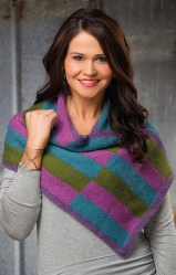 Upright Stripes Shawlette