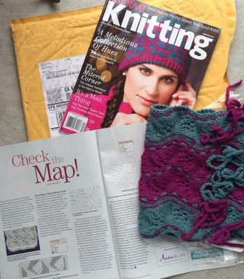 Photo of Hayle Cowl and Creative Knitting Winter 2014