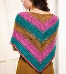Double Your Pleasure Shawl, back