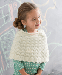 Girl's Poncho for Red Heart UK