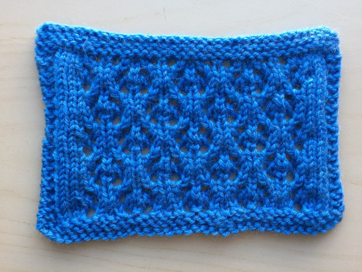 Swatch: Fleurette (mult of 6 sts +5; 12 rows)