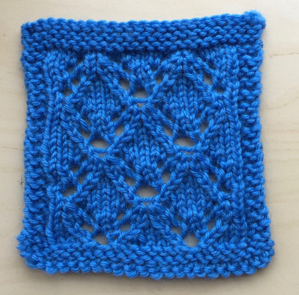Swatch: Mira Lace (mult of 8 sts +2; 16 rows)