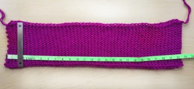 Garter stitch scarflette rectangle