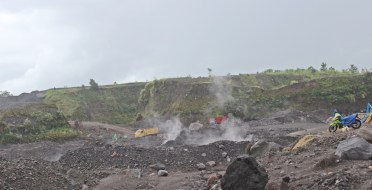 The materials still 'hot' after 2 years eruptions