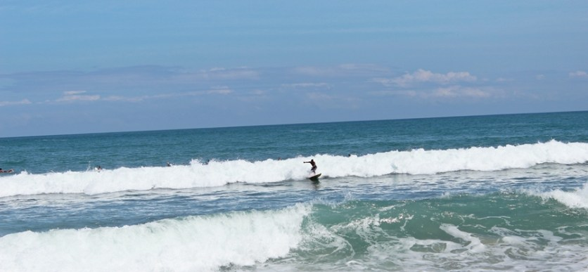 The surfer action, Kuta Beach, Bali