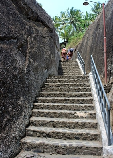 The long stairs, hundreds steps